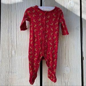 Baby GAP reindeer Christmas Pajamas 0-3 months